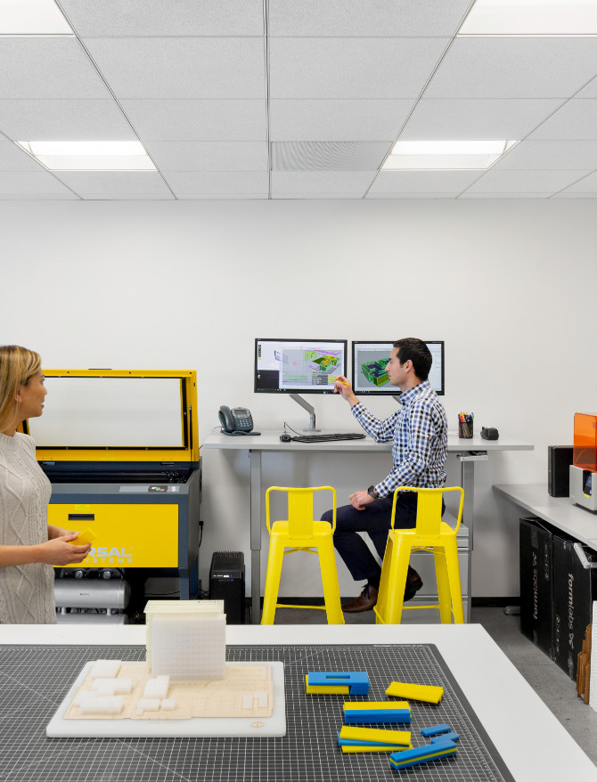 Flad Architects San Francisco Office Maker Space