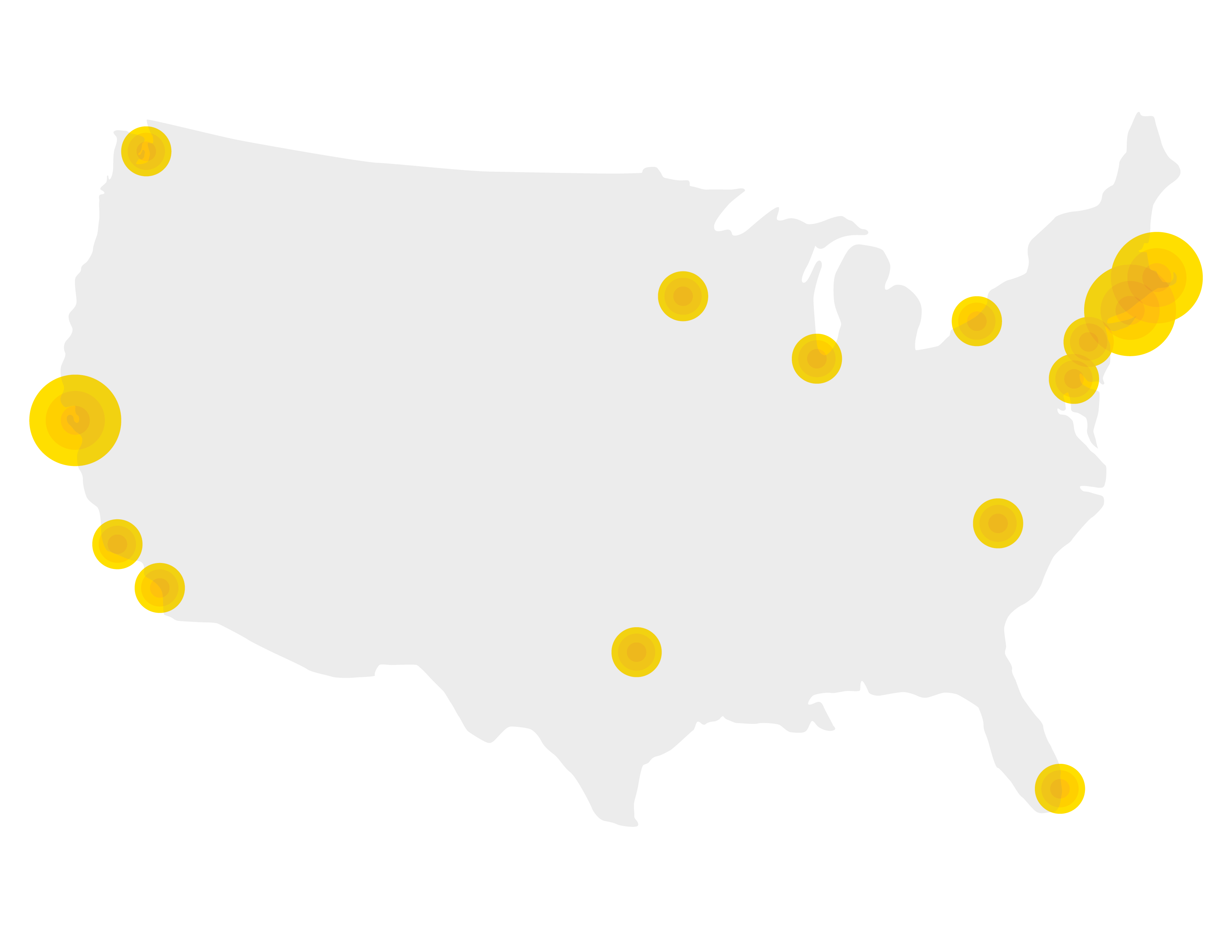 Map of United States BioTech areas