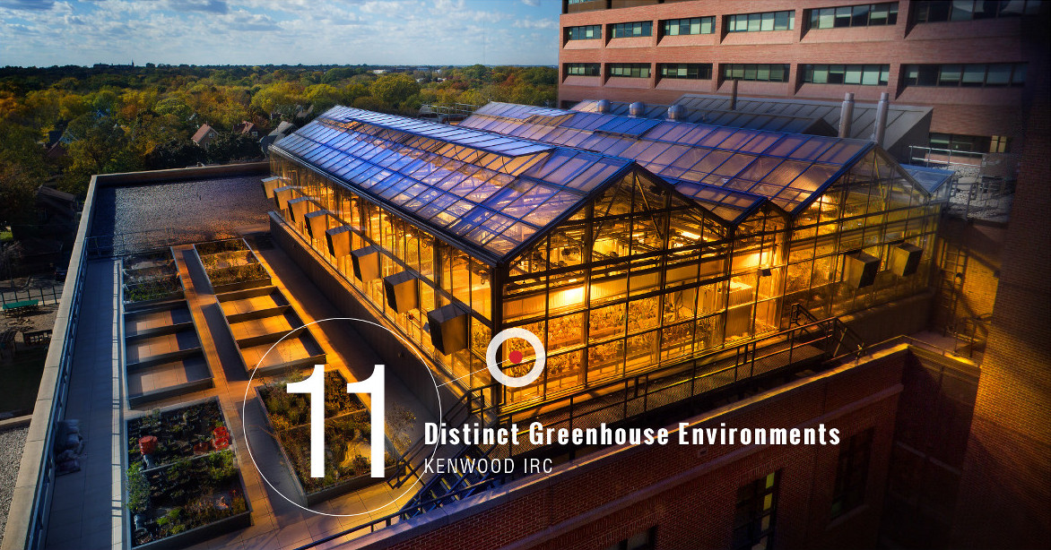 11 Distinct Greenhouse Environments UW-Milwaukee Kenwood IRC